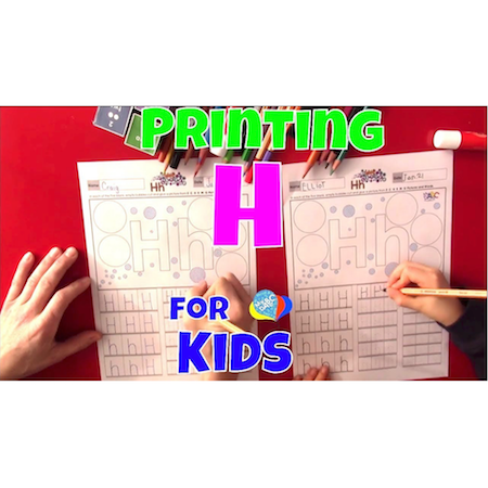 Learn How To Print Letter H For Kids | Language Arts Kids