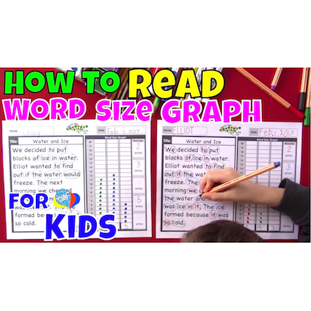 How To Read With A Word Size Graph For Kids | Language Arts Kids