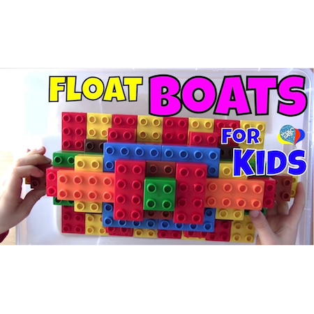 How To Float Boats For Kids With Lego DUPLO   Fun Science for Kids