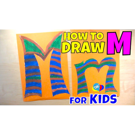 Learn How To Draw Letter M For Kids | Creative Art Kids