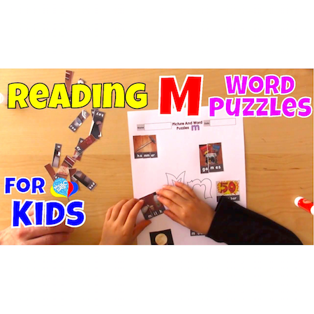 M Word Puzzles   Reading Language Arts For Kids