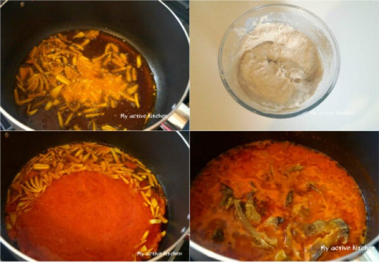 process shot of how to cook egusi soup.
