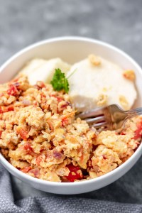image of nigerian yam and egg sauce