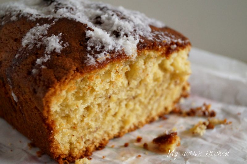 banana and coconut loaf.