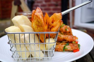 fry yam and plantain.