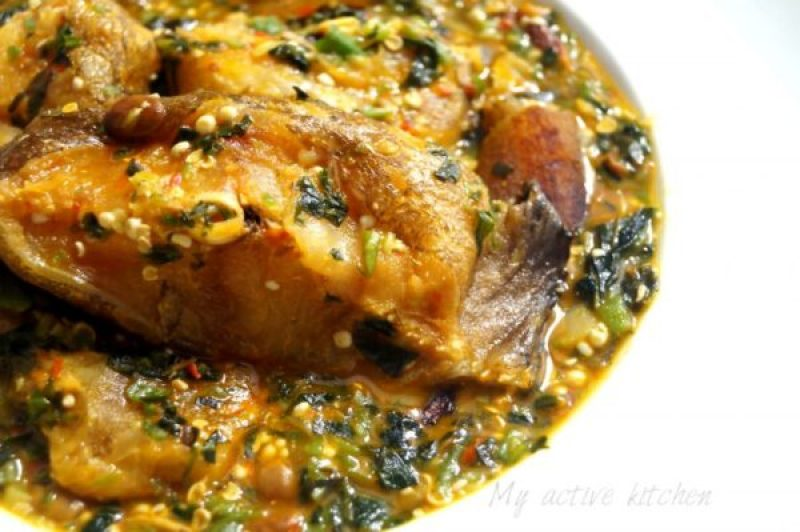another close shot of okro soup
