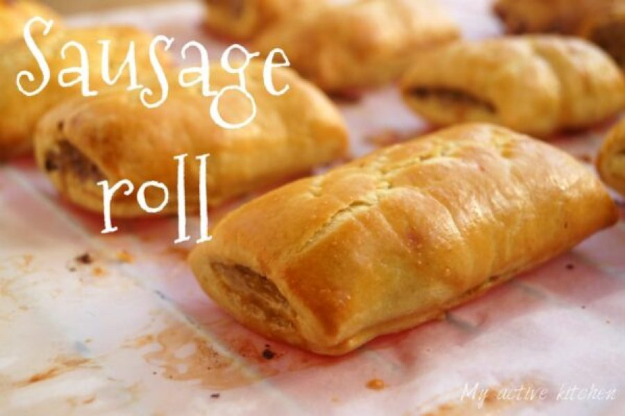 image of freshly baked sausage roll