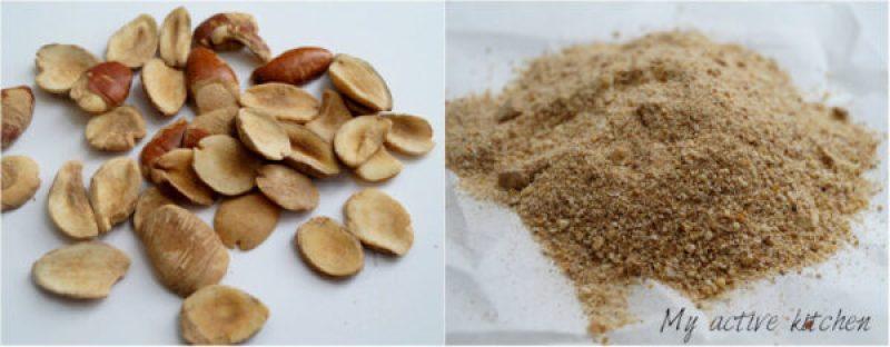 image of ogbono seed and ground ogbono