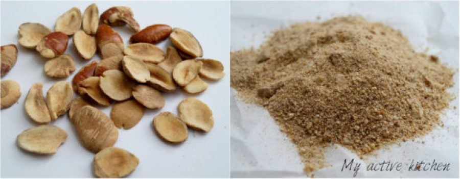 image of ogbono seed and ground ogbono