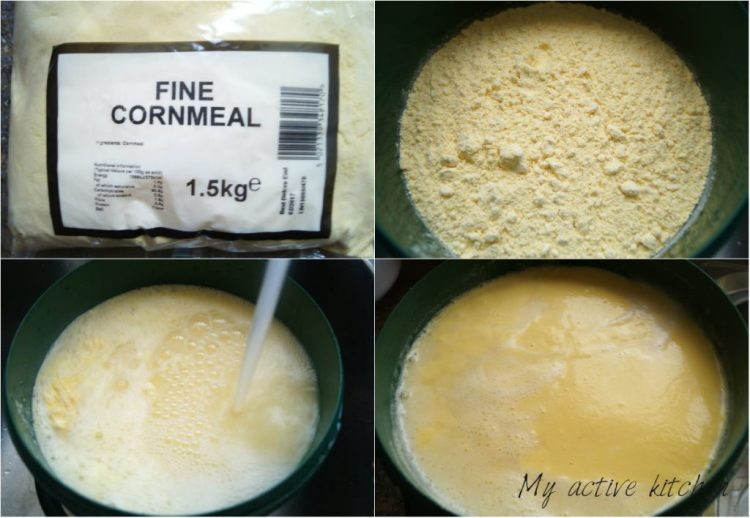 using cornmeal to make akamu