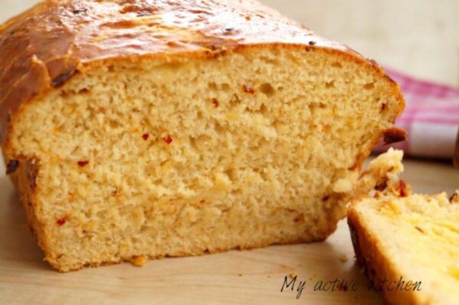 close shot of bread on a slate