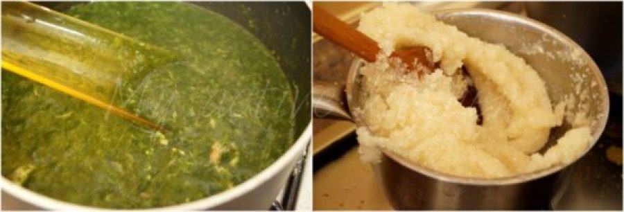 how to make ewedu and eba.