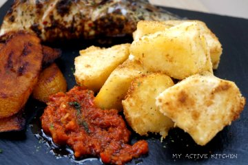 roasted yam and fish recipe