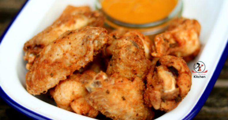 fry chicken wings crispy