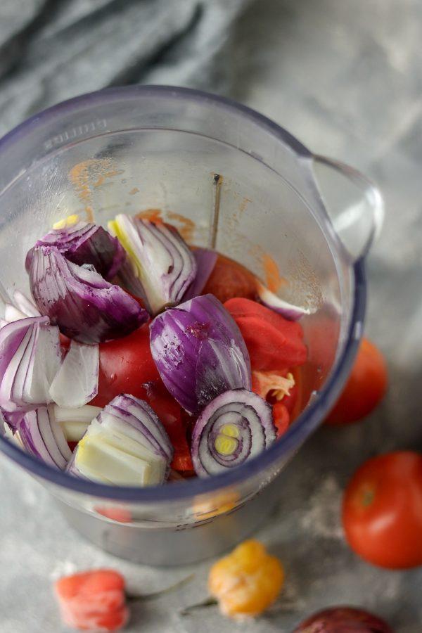 pepper in blender
