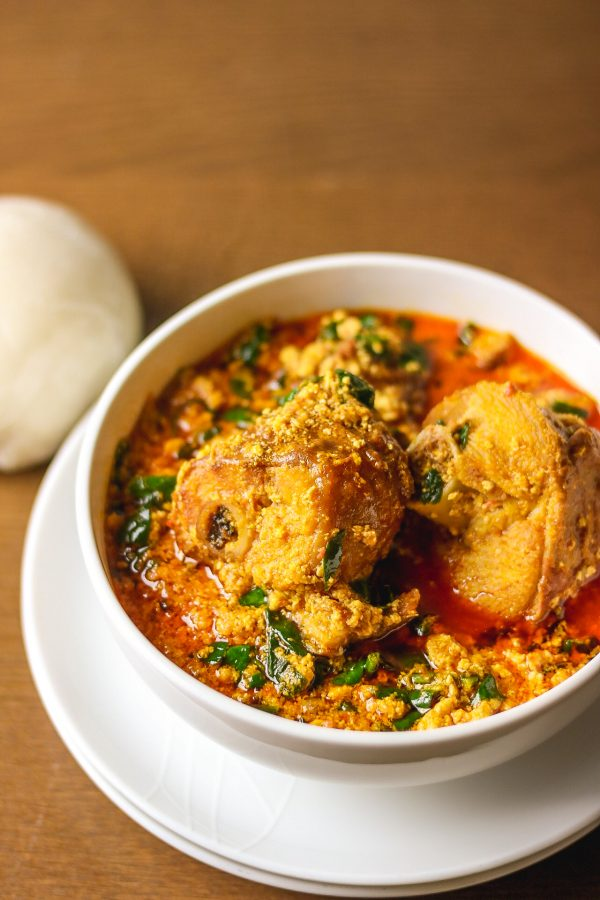 Egusi soup with pounded yam