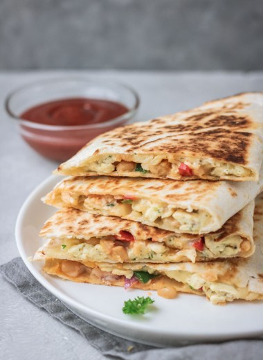 breakfast quesadilla.
