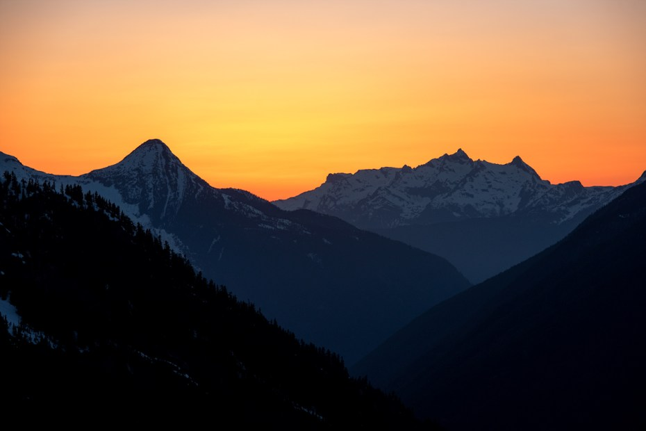 Sunset over the Chilliwack
