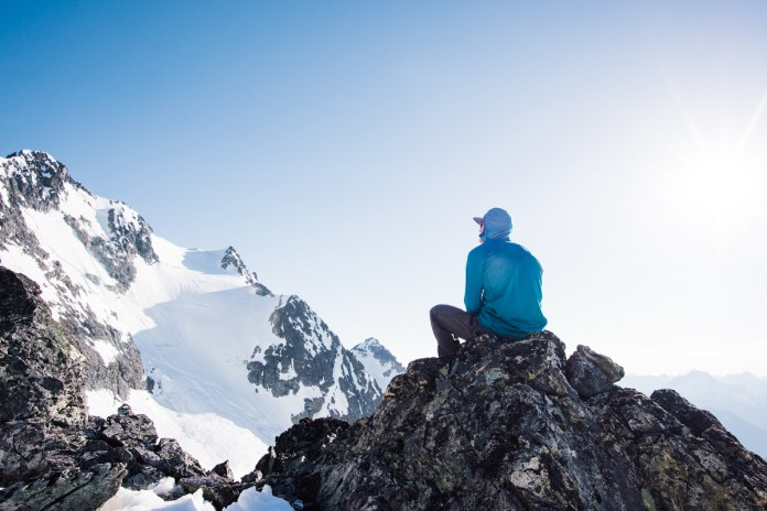 Contemplating the Custer Glacier