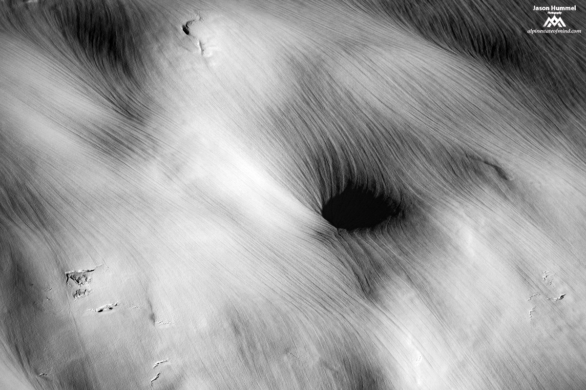 A Maelstrom and sun Runnels on the Redoubt Glacier