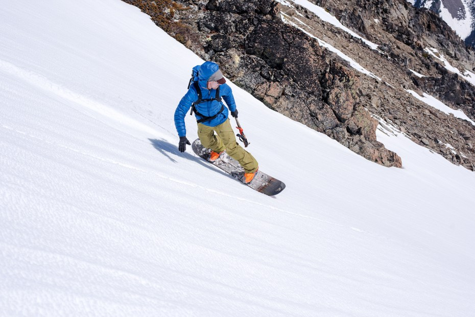 Skiing off the summit of Fricaba