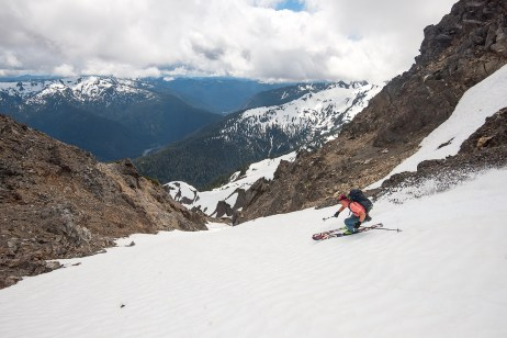 The couloir down to the University Glacier