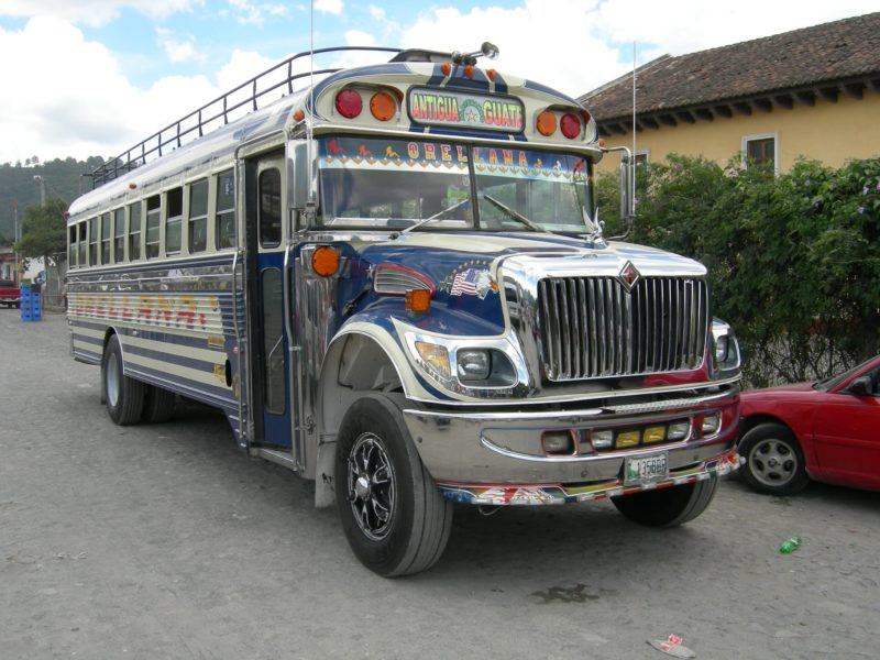 guatemala chicken buses
