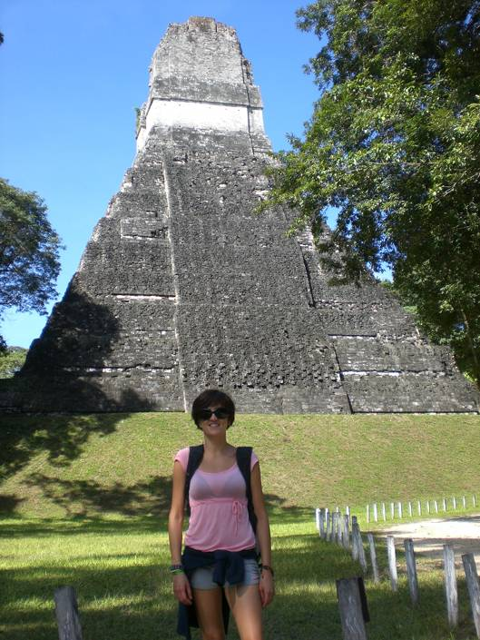 Pyramids and nature: Tikal ruins