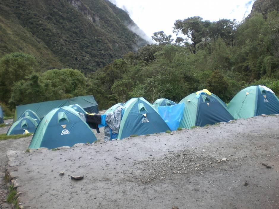 Base camp on day 2