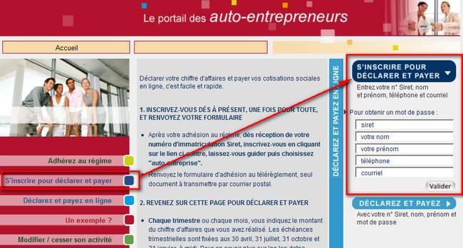 Compte auto entrepreneur sur Net Entreprise