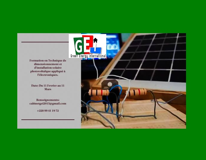Le Cabinet Green Energy International forme en installation solaire