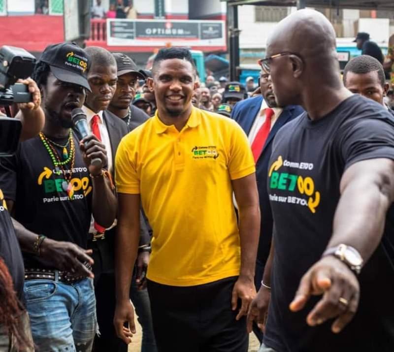 Samuel Eto'o à l'inauguration de son nouveau business