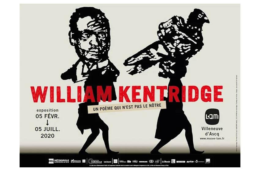 """Diaspora/William Kentridge: Exposition """"Un poème qui n'est pas le nôtre""""."""