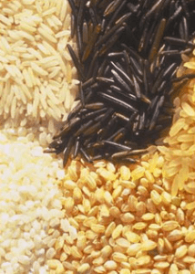 long grain, short grain, medium grain and wild rice
