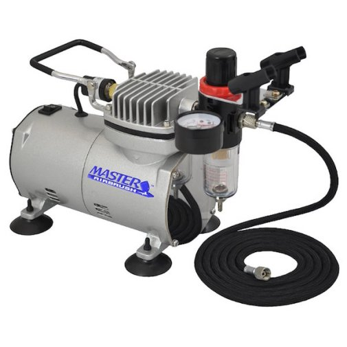 Master Airbrush High Performance Airbrush Air Compressor with Filter, Black Air Hose & Dual-brush Holder review