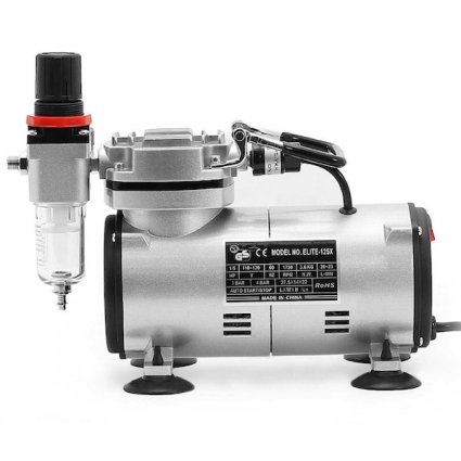 PointZero Portable Airbrush Air Compressor Tankless Oil-less 1:5 HP review