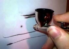 Airbrush spattering