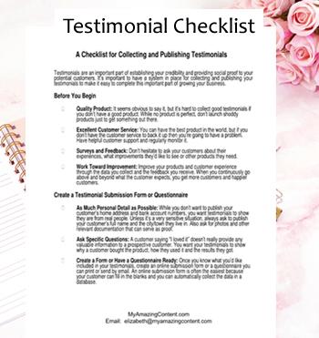 Testimonial Checklist