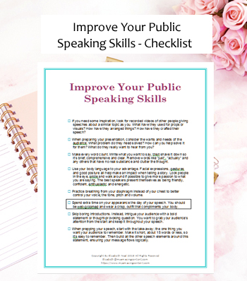 Improve Your Public Speaking Skills Checklist