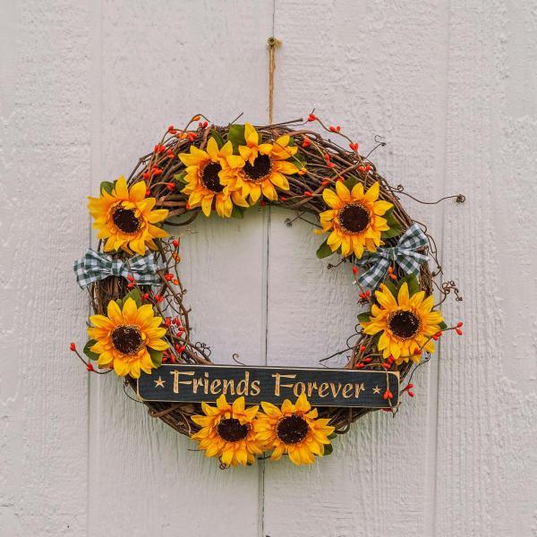 """14"""" Sunflower Country Kitchen Wreath"""