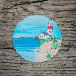 Round Saw Blade with Sea Scene