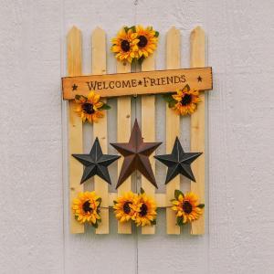 Sunflower Picket Fence