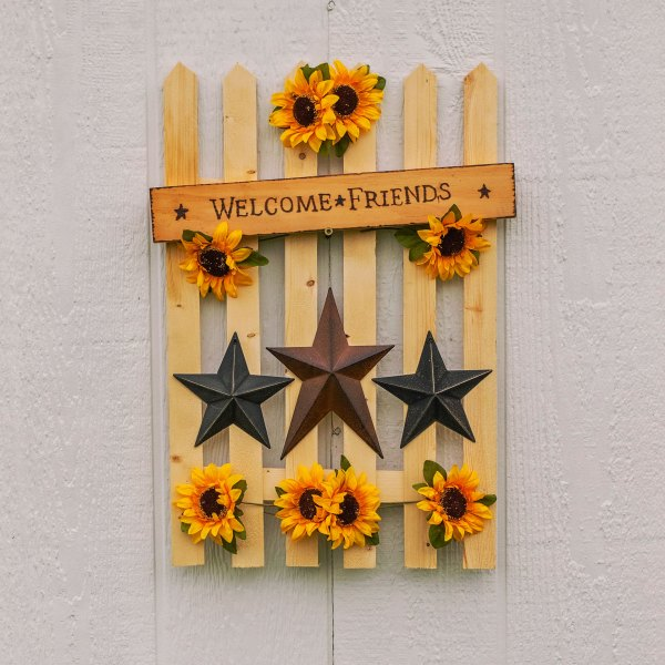 Sunflower Picket Fence