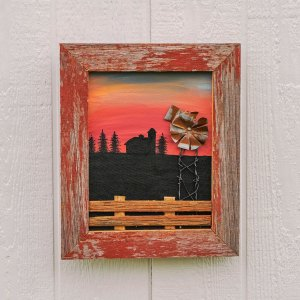 Sunset with Frame & Windmill