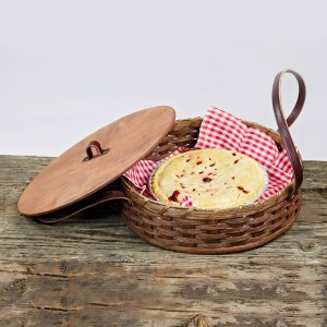 Single Pie Basket Brown