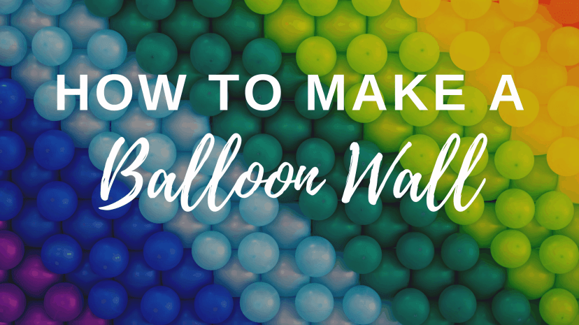 how to make a balloon wall tutorial