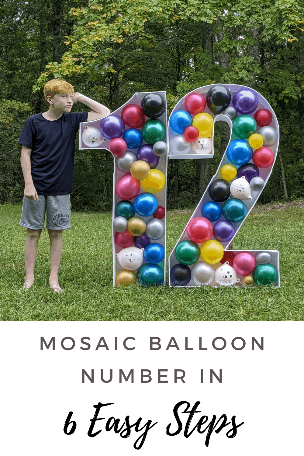 Make your own Mosaic Balloon Number for your next get together. Check out the 6 easy steps on how to make a mosaic balloon number sculpture.