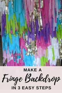 Making a fringe backdrop as easy as 1-2-3.  Check out our tutorial on a DIY fringe party backdrop that your guests will love.