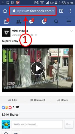 أسهل و أسرع طريقة تحميل فيديو من الفيس بوك بدون برامج أو