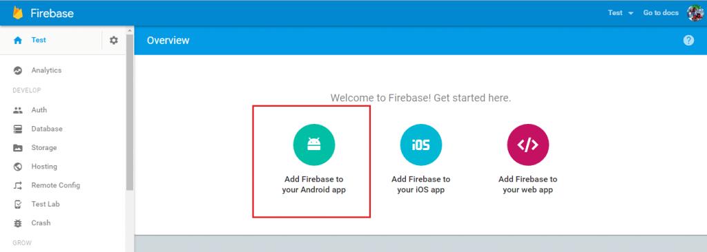 Add Firebase